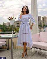 Нарядное женское платье белого цвета, размеры: 44-46, 40-42