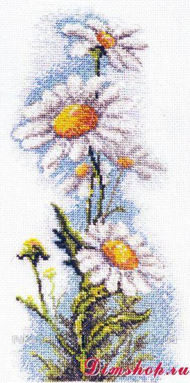 Набір для вишивання хрестом ТМ Мар'я Майстриня 06.002.17 Польові ромашки