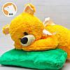 Плюшевый мишка Соня на подушке, 70 см, фото 4