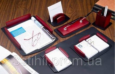 Набор настольный Bestar из дерева 7 предметов 7184HDU Красное дерево