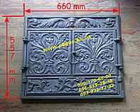 Камин чугунный фасад с дверями, чугунное литье, фото 1
