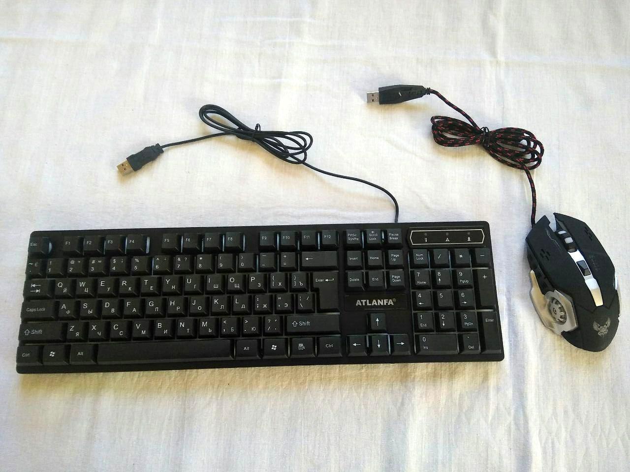 Подарунковий набір світяться мишка і клавіатура ігрові X1