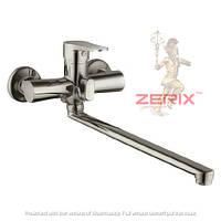Смеситель для ванны с душем ZERIX PUD7 045 НЕРЖАВЕЙКА