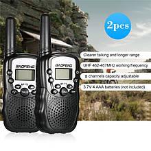 Комплект из двух раций Baofeng BF-T3 T3 2 шт. Радиостанция, Рация