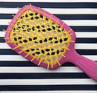Расческа для волос Janeke 1830 Superbrush The Original Italian Розово-желтая, фото 3