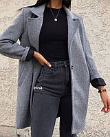 Кашемировое пальто женское стильное удлиненное на подкладке (Норма)