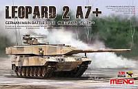 LEOPARD 2A7+. Сборная модель немецкого основного боевого танка в масштабе 1/35. MENG MODEL TS-042