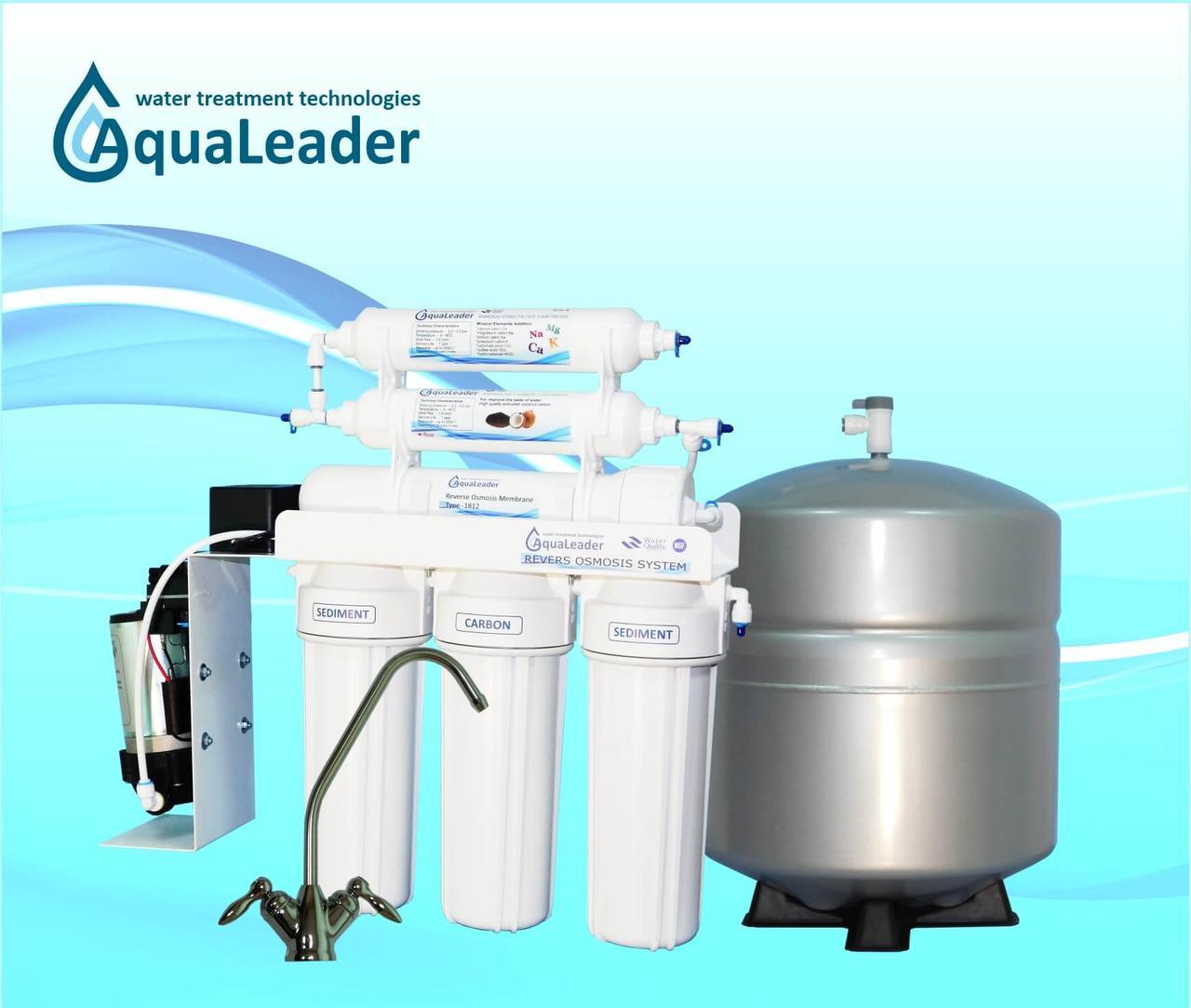 Система обратного осмоса с помпой AquaLeader RO-6 pump