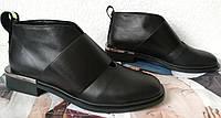 Lola! Удобные стильные женские ботинки туфли натуральная кожа квадратный каблук