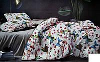 """Двуспальные постельные комплекты Фланель """"BAYUN""""  """"Бабочки в саду"""""""