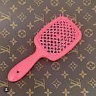 Расческа для волос Janeke 1830 Superbrush The Original Italian Розовый Neon, фото 3