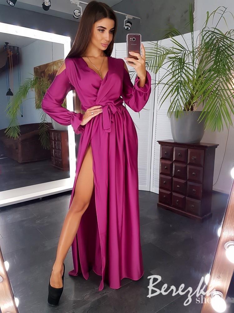 Шелковое длинное женское платье,много цветов