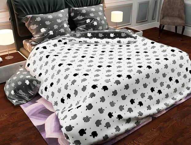 Комплект постельного белья евро на резинке 200*220 хлопок (13931) TM KRISPOL Украина, фото 2