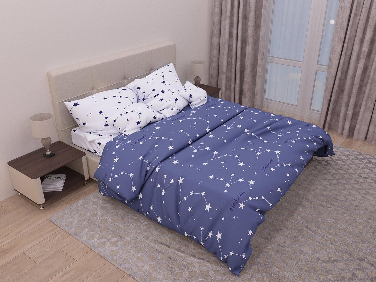 Комплект постельного белья евро на резинке 200*220 хлопок (13935) TM KRISPOL Украина