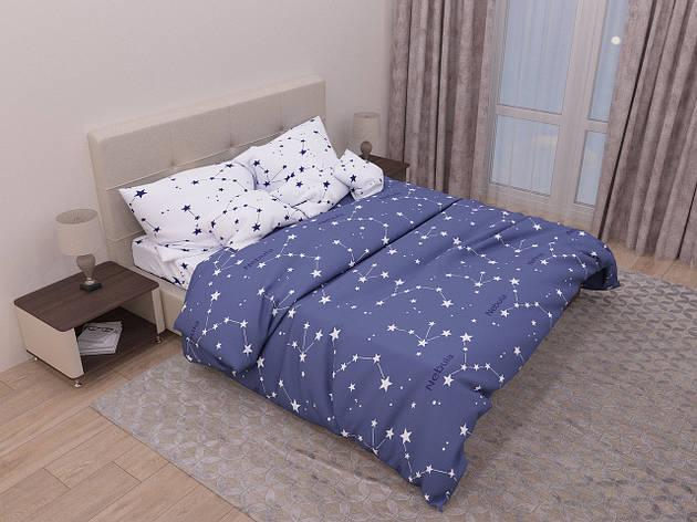 Комплект постельного белья евро на резинке 200*220 хлопок (13935) TM KRISPOL Украина, фото 2