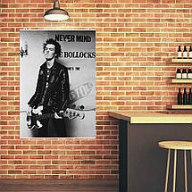 "Постер ""Sex Pistols. Сид Вишес с гитарой"". Sid Vicious, Секс Пистолс, панк, ретрофото. Размер 60x43см (A2). Глянцевая бумага, фото 3"