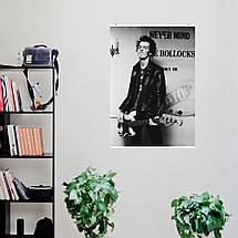 "Постер ""Sex Pistols. Сид Вишес с гитарой"". Sid Vicious, Секс Пистолс, панк, ретрофото. Размер 60x43см (A2). Глянцевая бумага, фото 2"