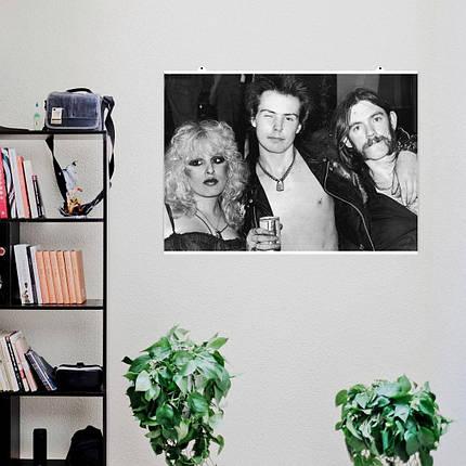 "Постер ""Sex Pistols. Сид Вишес и друзья"". Sid Vicious, Секс Пистолс, панк, ретрофото. Размер 60x43см (A2). Глянцевая бумага, фото 2"