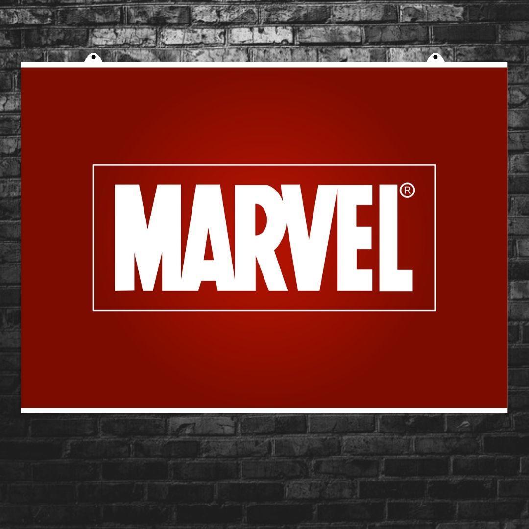 "Постер ""Логотип Marvel"", Марвел. Размер 60x42см (A2). Глянцевая бумага"