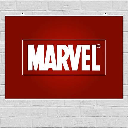 "Постер ""Логотип Marvel"", Марвел. Размер 60x42см (A2). Глянцевая бумага, фото 2"