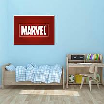 "Постер ""Логотип Marvel"", Марвел. Размер 60x42см (A2). Глянцевая бумага, фото 3"