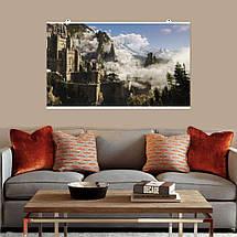 "Постер ""Ведьмак. Замок в тумане"". Witcher, фэнтези. Размер 60x35см (A2). Глянцевая бумага, фото 3"