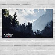 """Постер """"Ведьмак. Сумерки и горы"""". Witcher, фэнтези. Размер 60x35см (A2). Глянцевая бумага, фото 2"""