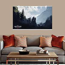 """Постер """"Ведьмак. Сумерки и горы"""". Witcher, фэнтези. Размер 60x35см (A2). Глянцевая бумага, фото 3"""