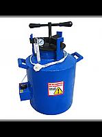 Автоклав для консервирования электрический синий маленький 0,5 л - 10 банок или 1,0 л - 6 банок