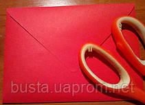 Конверт С6 червоний 140гр вельвет, фото 2