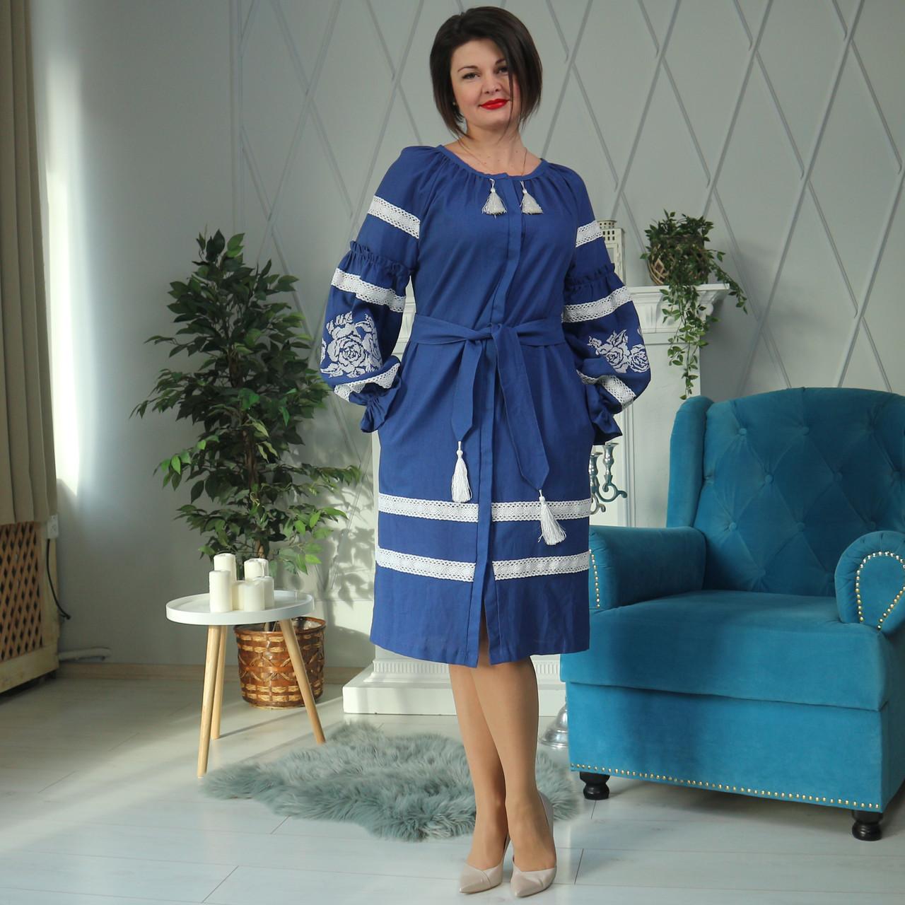 "Жіноче вишите плаття "" Белінда"" (Женское вышитое платье "" Белинда"") PJ-0026"