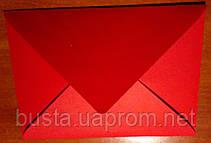 Конверт С6 червоний 140гр вельвет, фото 3
