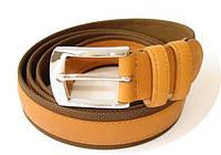 Ремень Ermenegildo Zegna коричневый кожаный