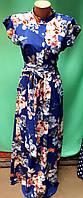 Женское летнее длинное платье, ткань софт, лиф на пуговицах, р.44-46, 48-50, 52-54, 56-58, 62-64