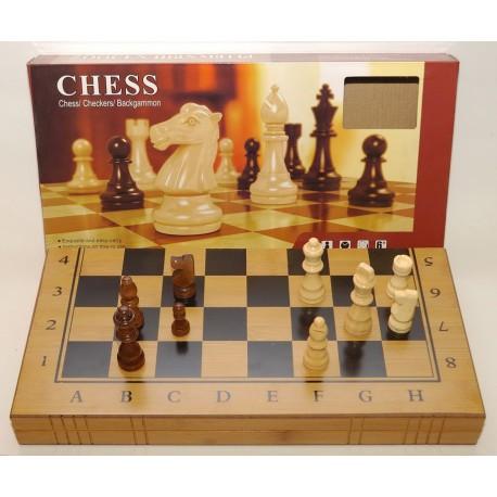 I5-49 Шахматы 3 в 1 бамбук