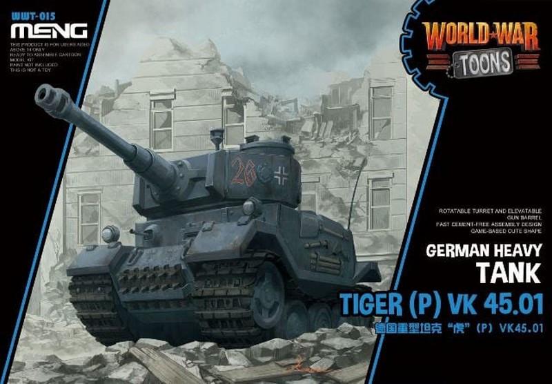 Tiger (P) VK 45.01 немецкий тяжелый танк (World War Toons series). MENG WWT-015