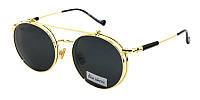 Круглые очки с подъемными стеклами модные Blue Classic Polaroid