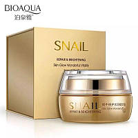 Крем с муцином улитки Bioaqua Snail Repair & Brithening 50 гр
