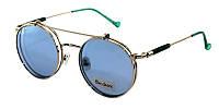 Модные круглые очки с подъемными стеклами Blue Classic Polaroid