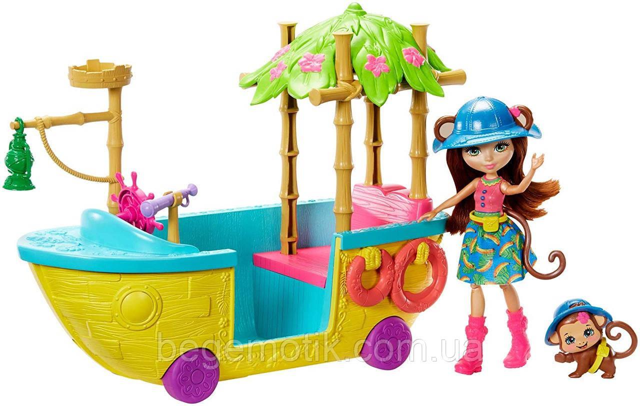 Энчантималс лодка в Джунглях обезьянки Мерит Enchantimals Junglewood Boat & Merit Monkey Doll