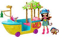 Энчантималс лодка в Джунглях обезьянки Мерит Enchantimals Junglewood Boat & Merit Monkey Doll, фото 1