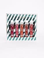 Набор жидких помад Kylie SPICE в коробке 5 штук