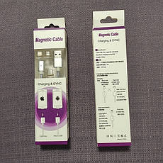 Magnetic Cable TY-1890 2A магнитный кабель 3 в 1 Micro USB / Type-C / Lightning Silver, фото 2