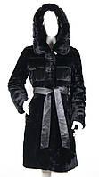 Шуба мутоновая с норкой и капюшоном Z-1588