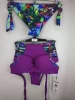 Купальник с высокой талией и бразилиана Sisianna 98204 фиолетовый на 44 46 50 размер
