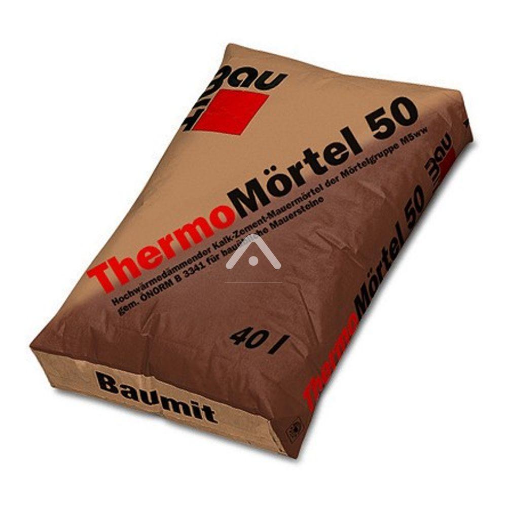 Термоизоляционный раствор, Baumit ThermoMortel 50, 40 кг