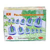 Вакуумные (массажные) банки для домашней терапии - pull out a vacuum apparatus KL 12 шт., фото 1