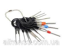 Комплект для зняття видалення авто клем електропроводки . екстрактор знімач контактів 11 шт