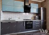 Угловая кухня под заказ изготовление по индивидуалному проекту с контрасными мдф-фасадами, фото 6