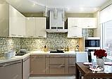 Угловая кухня под заказ изготовление по индивидуалному проекту с контрасными мдф-фасадами, фото 5